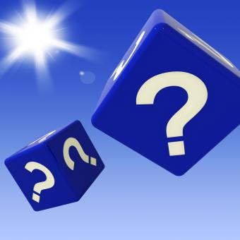 Free Stock Photo of Question Mark Dice Shows Enquiries And Doubts