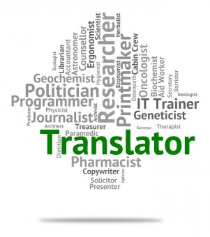 Free Stock Photo of Translator Job Means Translates Decipherer And Word
