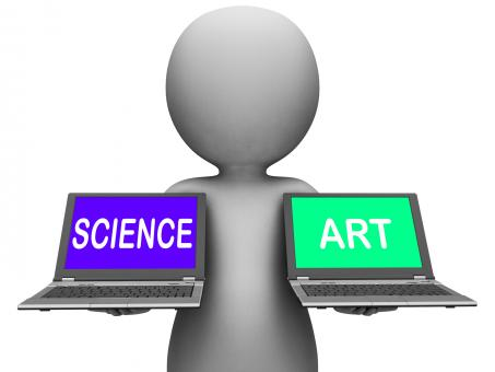 Free Stock Photo of Science Art Laptops Shows Scientific Or Artistic