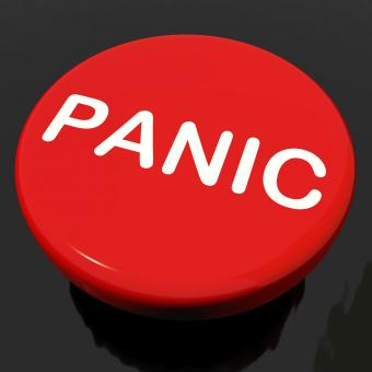 Free Stock Photo of Panic Button Shows Anxiety Panicking Distress