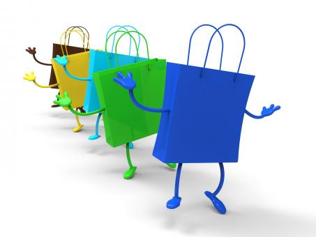 Free Stock Photo of Shopping Bags Dancing Shows Retail Buys