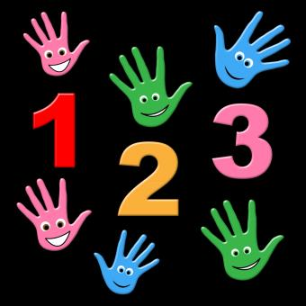 Free Stock Photo of Kids Counting Indicates One Two Three And Number