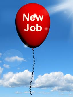 Free Stock Photo of New Job Balloon Shows New Beginnings in Careers
