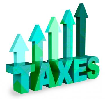 Free Stock Photo of Taxes Arrows Means Taxation Taxpayer 3d Rendering