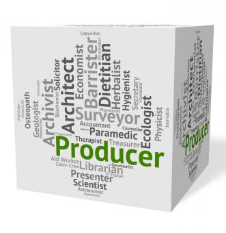 Free Stock Photo of Producer Job Means Work Producing And Text