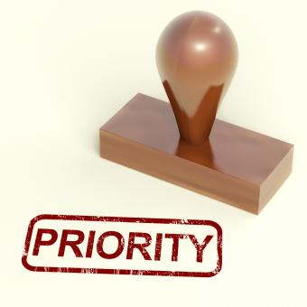 Free Stock Photo of Priority Rubber Stamp Shows Urgent Rush Delivery
