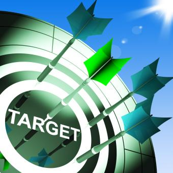 Free Stock Photo of Target On Dartboard Showing Successful Shooting
