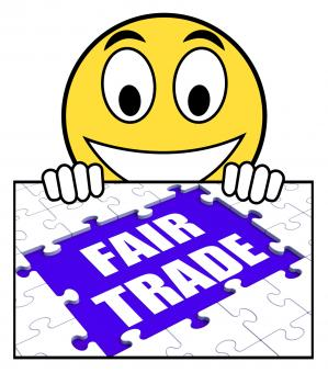 Free Stock Photo of Fair Trade Sign Means Shop Or Buy Fairtrade Products