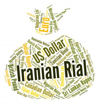 Free Stock Photo of Iranian Rial Shows Exchange Rate And Banknote