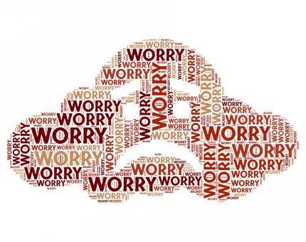 Free Stock Photo of Worry Word Indicates Ill At Ease And Bothered