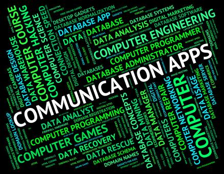 Free Stock Photo of Communication Apps Represents Application Software And Communica