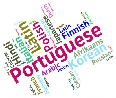 Free Stock Photo of Portuguese Language Represents Portugal Communication And Dialect