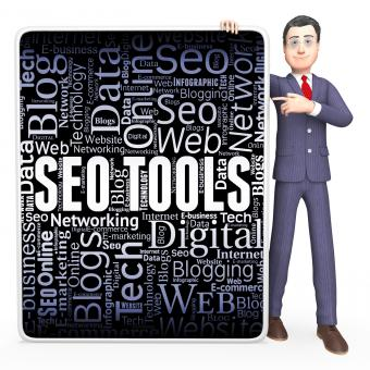 Free Stock Photo of Seo Tools Indicates Search Engine And Applications