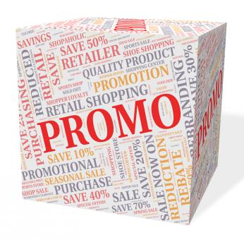 Free Stock Photo of Promo Cube Shows Savings Cheap And Discounts