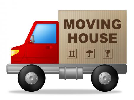 Free Stock Photo of Moving House Shows Change Of Residence And Lorry