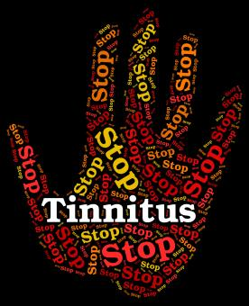 Free Stock Photo of Stop Tinnitus Indicates Warning Sign And Control