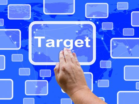 Free Stock Photo of Target Touch Screen Shows Aims Objectives Or Aspirations