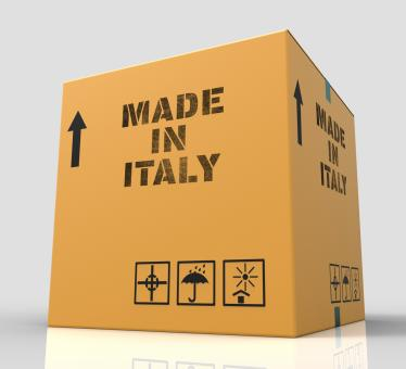 Free Stock Photo of Made In Italy Represents Product Export And Purchase 3d Rendering