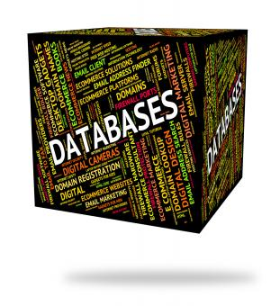 Free Stock Photo of Databases Word Indicates Info Words And Text
