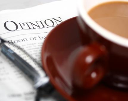 Free Stock Photo of Looking At The Opinion Section Of A Newspaper