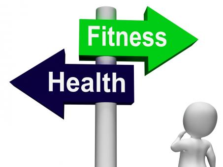 Free Stock Photo of Fitness Health Signpost Shows Healthy Lifestyle