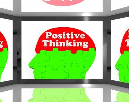 Free Stock Photo of Positive Thinking On Screen Shows Interactive TV Shows