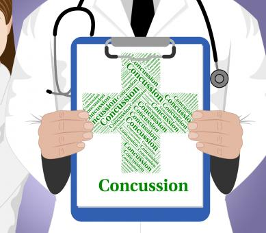 Free Stock Photo of Concussion Word Shows Brain Injury And Ailments