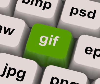 Free Stock Photo of Gif Key Shows Image Format For Internet Pictures