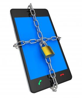 Free Stock Photo of Locked Phone Indicates Protect Password And Login