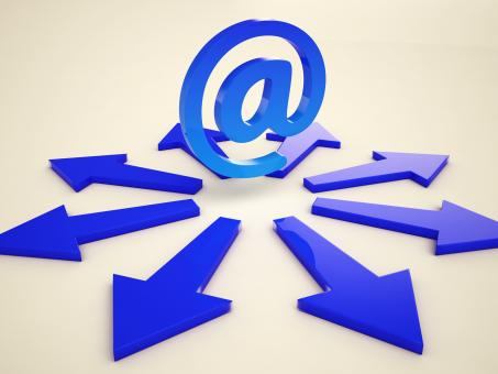Free Stock Photo of Email Arrows Shows Post Correspondence Through Web