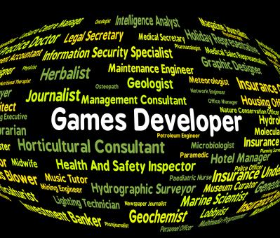 Free Stock Photo of Games Developer Means Play Time And Career