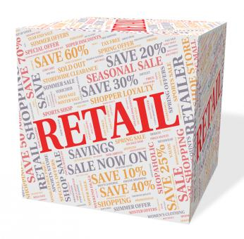 Free Stock Photo of Retail Word Shows Selling Words And Text