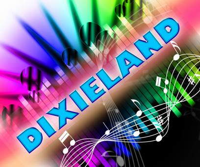 Free Stock Photo of Dixieland Music Represents New Orleans Jazz And Acoustic