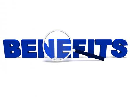Free Stock Photo of Benefits Word Means Perks Bonuses Or Reward