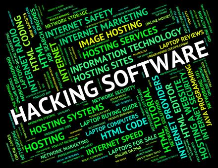Free Stock Photo of Hacking Software Shows Shareware Application And Attack