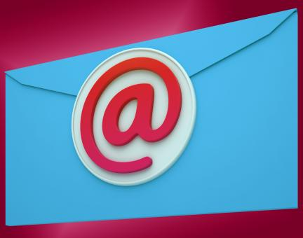 Free Stock Photo of Email Envelope Shows Global Correspondence Post Online