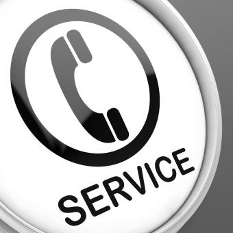 Free Stock Photo of Service Button Means Call For Customer Help