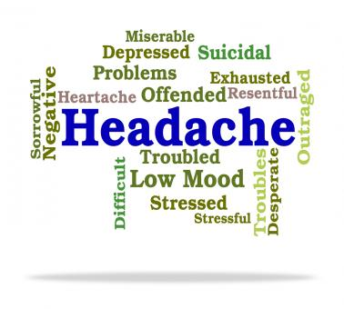 Free Stock Photo of Headache Word Means Wordcloud Migraines And Cephalalgia