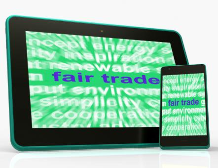 Free Stock Photo of Fair Trade Tablet Mean Fairtrade Products And Merchandise