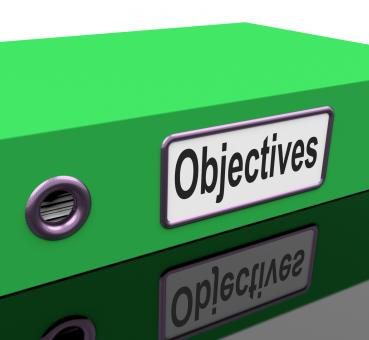 Free Stock Photo of File Objectives Means Goals Mission And Plan