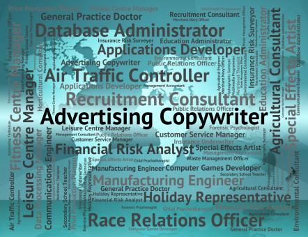 Free Stock Photo of Advertising Copywriter Means Hire Advertisements And Job