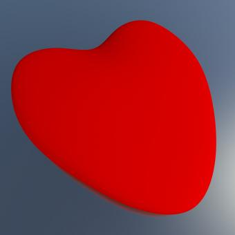 Free Stock Photo of Heart On A Blue Background Showing Love Romance And Valentines
