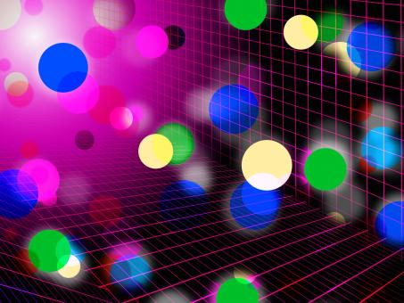 Free Stock Photo of Pink Bubbles Background Shows Circles Grid And Shining