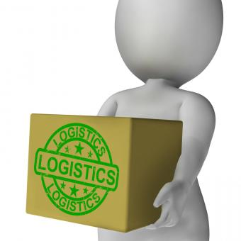 Free Stock Photo of Logistics Box Means Packing And Delivering Products