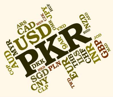 Free Stock Photo of Pkr Currency Shows Pakistan Rupee And Banknotes
