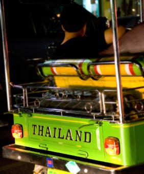 Free Stock Photo of Traveling Along In A Tuk Tuk In Thailand