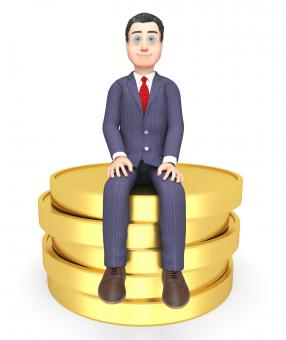 Free Stock Photo of Coins Money Shows Business Person And Commerce 3d Rendering
