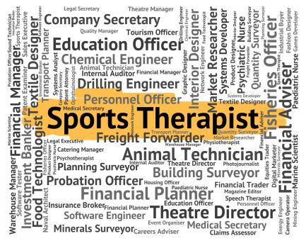 Free Stock Photo of Sports Therapist Means Sporting Work And Job