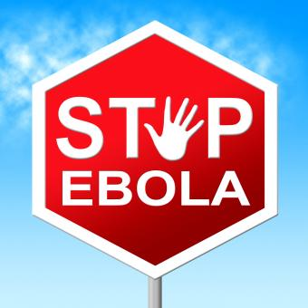 Free Stock Photo of Stop Ebola Shows Warning Sign And Caution