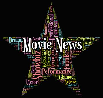 Free Stock Photo of Movie News Indicates Hollywood Movies And Entertainment